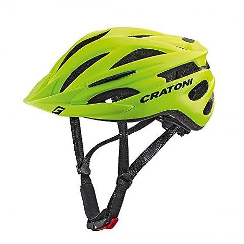 Cratoni Pacer Lime Matt (S-M 54 - 58 cm) (Fahrradhelme Günstig)