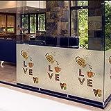 Fushoulu 45X60Cm Film De Fenêtre Commerciale Givré Opaque Intimité Vitrail Autocollant Café Déco Impression NumériqueComic Café