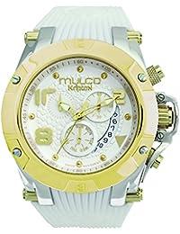 Mulco Unisex Kripton Colección Display analógico de cuarzo suizo reloj blanco MW5-2029-012
