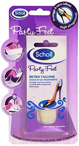 Scholl Party Feet Retro Tallone, Fascia in Gel Trasparente, 1 Paio