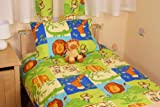 MONKEY BUSINESS COT BED/JUNIOR DUVET SET