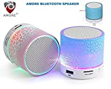 #4: Amore Latest Wireless Led Bluetooth Speakers Compatible With Samsung, Motorola, Sony, Oneplus, Htc, Lenovo, Nokia, Asus, Lg, Coolpad, Xiaomi, Micromax,Assorted Colors