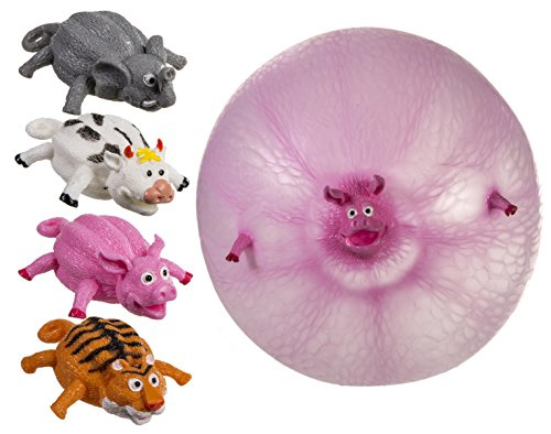 Keeps Them Amused For Hours - Inflatable Wild Animal Ball Balloon - Best Seller Ideal Fun Toys & Games Age 5+ Present Gift Idea for Christmas Xmas Stocking Filler Top Ups Birthdays Easter Rewards Treats Pocket Money - Boy Boys Girl Girls Kids Children Chi