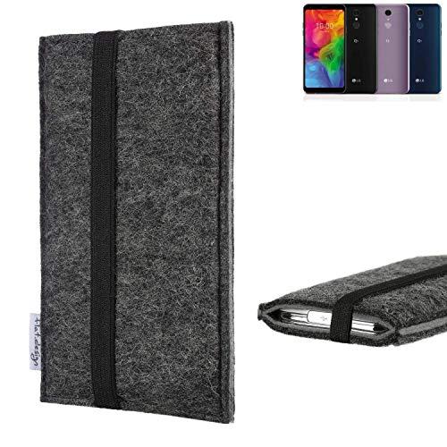 flat.design Handyhülle Lagoa für LG Electronics Q7 Alfa | Farbe: anthrazit/grau | Smartphone-Tasche aus Filz | Handy Schutzhülle| Handytasche Made in Germany
