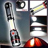 AmyGline LED Taschenlampe Multi-funktions kolben Wartungs lampe teleskopierbar mit Magnetisch Arbeitslampe tragbare Taschenlampe LM300 COB Camping Inspektionslampe
