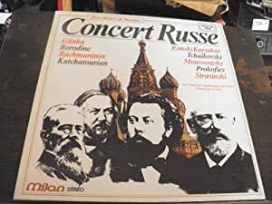 concert russe 2 disques Milan n° MI 150 - 2 heures de musique Rimsky-Korsakov - rachmaninof - Moussorgsky - Borodine -Tchaikovski - Prokofiev - Stravinski - Glinka - Katchatourian