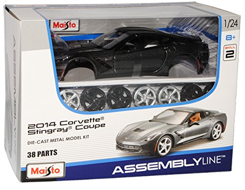 Maisto Chevrolet Chevy Corvette C7 Stingray Coupe Grau Ab 2013 39125 Bausatz Kit 1/24 Modell Auto