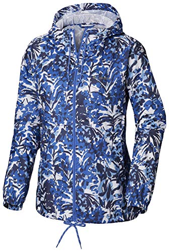 Columbia Damen Flash Forward Printed Windbreaker Windjacke, Arctic Blue Tropical Floral Print, XX-Large Arctic Sport Boot