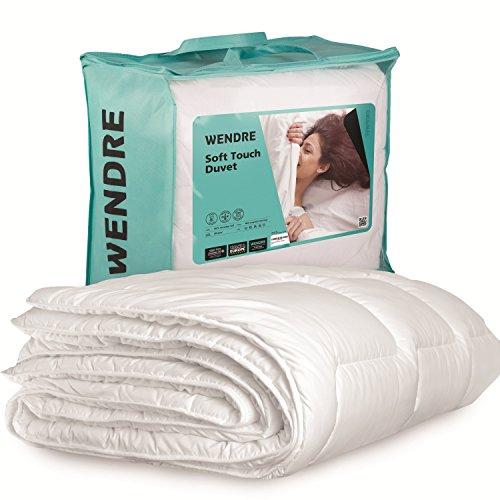 Premium Bettdecke von Wendre | Flauschige, Weiche & Warme 4 jahreszeiten Decke | Ideal für Allergiker | Waschmaschinenfest | Mikrofaser Bezug | 220x240 - XXL King Size | Weiß