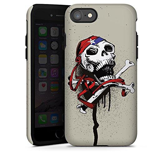 Apple iPhone X Silikon Hülle Case Schutzhülle Pirat Tod Totenkopf Tough Case glänzend