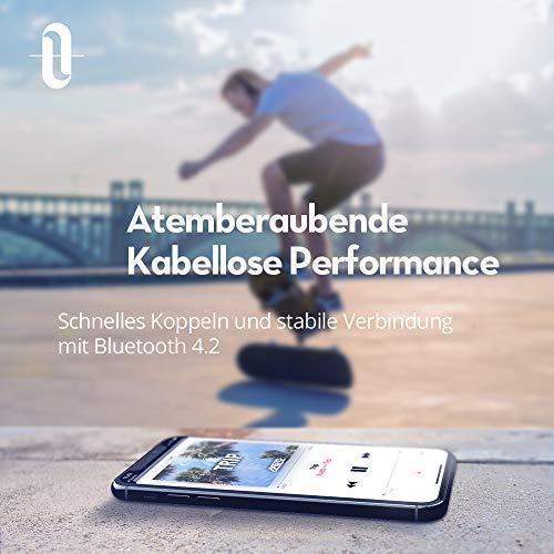 TaoTronics Noise Cancelling Kopfhörer Bluetooth Kopfhörer Over Ear mit aktiver Rauschunterdrückung 25 Std. Laufzeit, TT-BH22 mit eingebauten Mikro CVC 6.0, duale 40 mm Tieftontöner, Faltbare Ohrhörer - 3