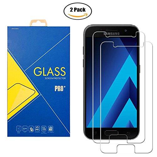 [2 Pack] Panzerglas Schutzfolie Samsung Galaxy A3 (2017) SM-A320 / A320F / A320F/DS / 320 - Gehärtetem Glas Schutzfolie Displayschutzfolie für Samsung Galaxy A3 (2017) SM-A320 / A320F / A320F/DS / 320