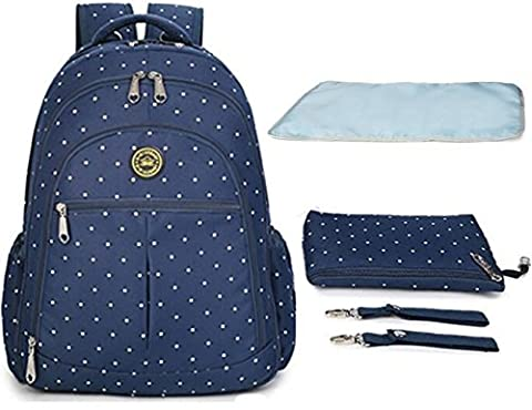Aidonger Multifunctional Mummy Large Capacity Backpack Baby Diaper Nappy Bag Nursery Changing Bag Handbag Shoulder Backpack