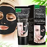Black Mask, Mitesser Maske, Peel Off Maske, Black Head Maske, Gesichtsmasken Schwarz, Tiefenreinigung Mitesser Entferner Anti Akne Öl-Kontrolle Purifying, 60g