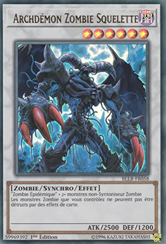 "Carte Yu-Gi-Oh! ""Archdémon Zombie Squelette"" BLLR-FR058 - VF/ULTRA RARE"