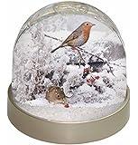 AMO-5GL Schneekugel mit Rotkehlchen und Maus