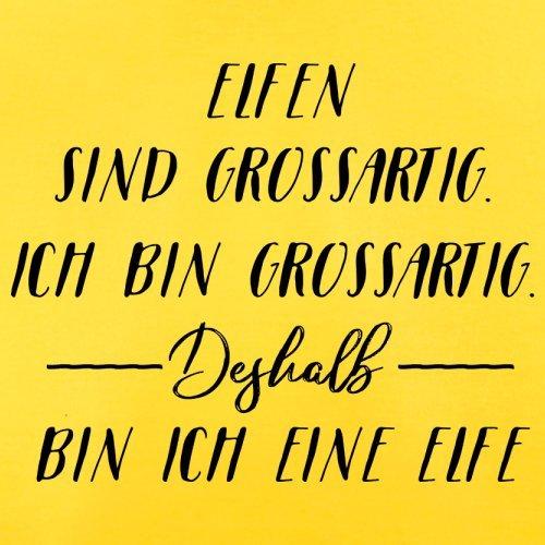 Ich Bin Grossartig - Elfe - Herren T-Shirt - 13 Farben Gelb