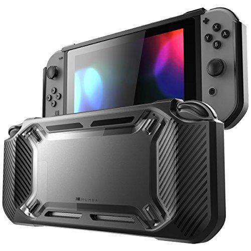 Mumba Hülle für Nintendo Switch, [Rugged] Gummiert Case Harte Schutzhülle Schwerlast Cover für Nintendo Switch 2017 Ausgabe (Schwarz) (Hardcover Cover Case)