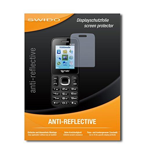 SWIDO Schutzfolie für Simvalley Mobile SX-305 Dual-SIM [2 Stück] Anti-Reflex MATT Entspiegelnd, Hoher Härtegrad, Schutz vor Kratzer/Bildschirmschutz, Bildschirmschutzfolie, Panzerglas-Folie