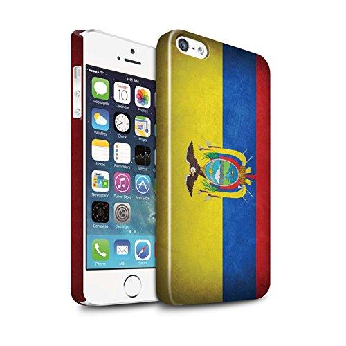 STUFF4 Glanz Snap-On Hülle / Case für Apple iPhone X/10 / Griechenland/Griechisch Muster / Flagge Kollektion Ecuador/Ecuadorianischen