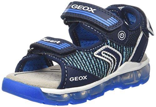 Geox j android a, sandali punta aperta bambino, blu (navy/lt blue), 32 eu