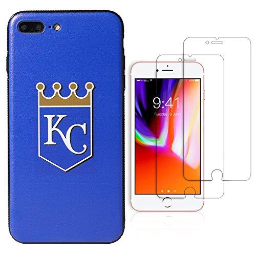 Sportula MLB Telefon Fall, für iPhone 7Plus/iPhone 8Plus (14cm), Passende 2Premium Displayschutzfolie Extra Value Set, Kansas City Royals Seattle Mariners Team-design