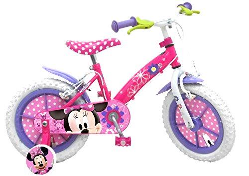 Minnie Mouse - Bicicleta con ruedines y cesta...