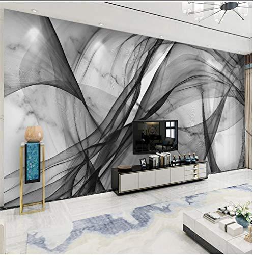 HD wasserdicht Leinwanddruck, Wasserdicht Leinwand Wandbild Tapete Moderne 3D Abstrakte Tinte Linien Textur Fototapete Wandaufkleber 350x250cm - 350 Tinte