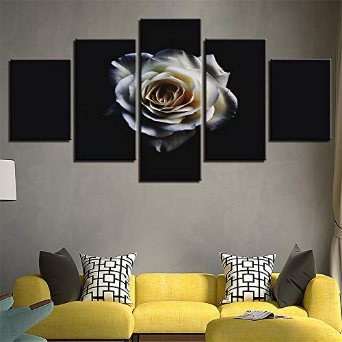 Comecong Dekorative Malerei,Home Inkjet Restaurant Pflanze Blumen Kombination Handwerk Malerei Wandmalerei Wandmalerei 2 Malerkern 20x35cmx2 20x45cmx2 20x55cmx1
