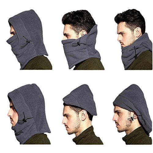 Col Réglable d'hiver chaude bouchon Housse coupe-vent anti-poussière Masque de ski Bonnet pour adulte Protection Masque complet vert militaire