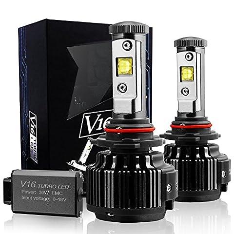TECHMAX LED Phare Ampoules kit de conversion H11 (H8, H9) 7200LM 60W 6000K blanc froid CREE - Garantie 3 ans