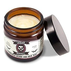 Aceite Barba – Urban Nomads   Cuidado y Conditioner Anti-Bacteriano para la Barba, Bigote, Pelo   100% Natural   Argan, Jojoba, Bergamota, Naranja, Jengibre, Aceites Esenciales   30ml