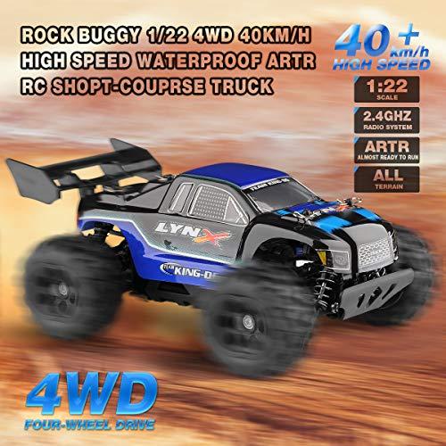RC Truggy kaufen Truggy Bild 1: Diza100 Ferngesteuertes Auto, RC Geländewagen Funkferngesteuertes Auto 4WD Motor 40 Killometer / h 1:22, Blau*