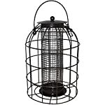 Green Jem BF6-NEW2 Dome Shaped Caged Seed Wild Bird Feeder, Brown Hammer Tone, 15.5x15.5x23 cm 5