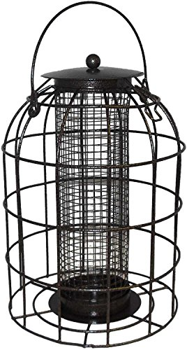 Green Jem BF6-NEW2 Dome Shaped Caged Seed Wild Bird Feeder, Brown Hammer Tone, 15.5x15.5x23 cm 2