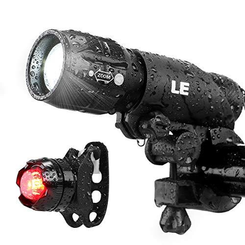Lighting EVER LE Luz LED de Bicicleta, Linterna Bicicleta Impermeable, Zoom Regulable,...