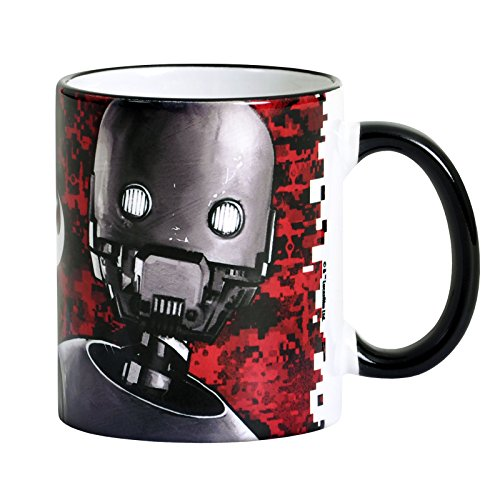 Star Wars Rogue One Tasse K-2SO Enforcer Droid Elbenwald Keramik Rot (Rebellen Kaffee)