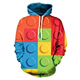 Lego Steine 3D-Multicolor Geometrie Hoodie - Best Reviews Guide