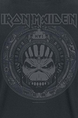 Iron Maiden Book of Souls Skull T-Shirt Schwarz Schwarz
