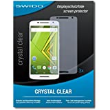 3 x SWIDO Crystal Clear Screen Protector for Motorola Moto X Play - PREMIUM QUALITY (crystalclear, hard-coated, bubble free application)