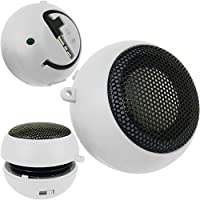 Premium And Stylish MINI PORTABLE CAPSULE SPEAKER FOR SAMSUNG GALAXY MOBILE PHONES & TABLET (SAMSUNG GALAXY ACE S5830 (S), WHITE)