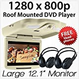 "Best Flip Down Dvd Players - 11"" Car DVD Player Roof Mounted Flip Down Review"