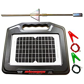 ShockRite Electric Fence Energiser Solar SRS02 0.2 Joule Earth Stake & Cables 2 Year Warranty - MADE IN UK 12