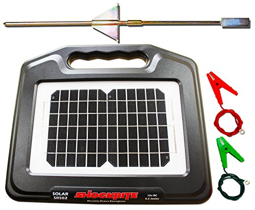 ShockRite Electric Fence Energiser Solar SRS02 0.2 Joule Earth Stake & Cables 2 Year Warranty - MADE IN UK 1