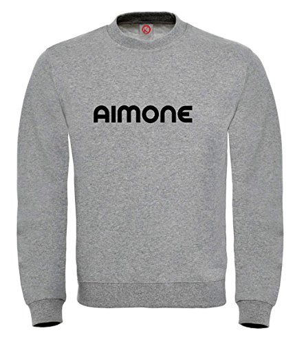 Felpa Aimone - Print Your Name Gray