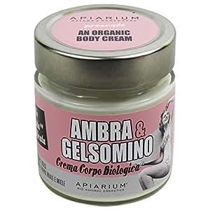 Apiarium - Crema Corpo Biologica Ambra e Gelsomino - Lenitiva ed Addolcente con Rosa Mosqueta - Made in Italy