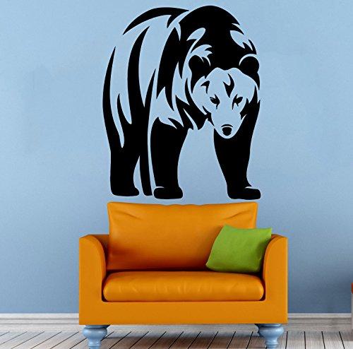 Bär Wandaufkleber Tiere Wandbild Wandmalereien Vinyl Aufkleber Grizzly Interieur Housewares (2rrtr)