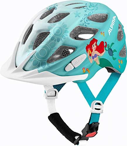 ALPINA Rocky Kinder Fahrradhelm (Größe: 47-52 cm, 80 Disney Ariel)