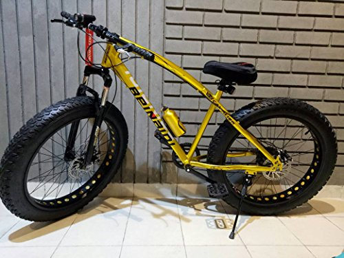 Love Freedom Jaguar Fat Bicycle with Dual Disc Breaks 21 Shimano Gears 26T