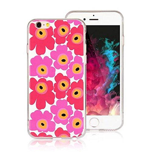 "MOONCASE iPhone 6 Plus Coque, Ultra Mince Motif Etui Souple TPU Silicone Antichoc Housse Case pour iPhone 6 Plus / iPhone 6s Plus (5.5"") (Fleur 04) Fleur 02"